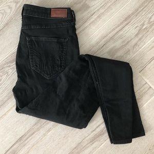 Hollister high rise skinny jeans size 5 black